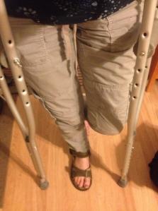 Me on crutches